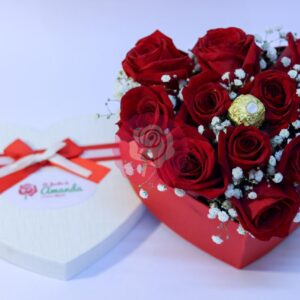 enviar corazón de rosas a domicilio en Concepción y alrededores