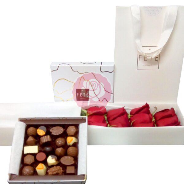 Enviar rosas a domicilio; Caja 12 rosas y bombones