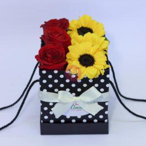 enviar flores a domicilio; Rosas y girasoles